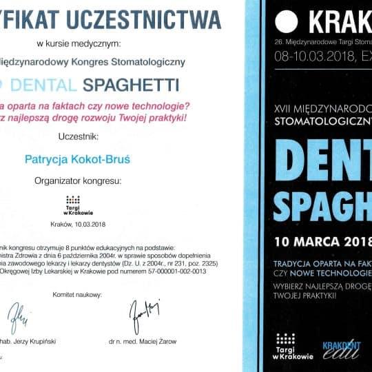 Certyfikat Dental Spaghetti